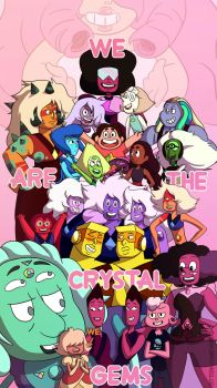 The Crystal Gems by sitton-somewhere