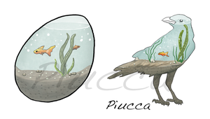 Water Bird by Piucca