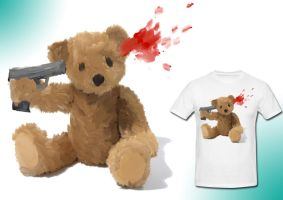 suicide teddy by ItsBadger