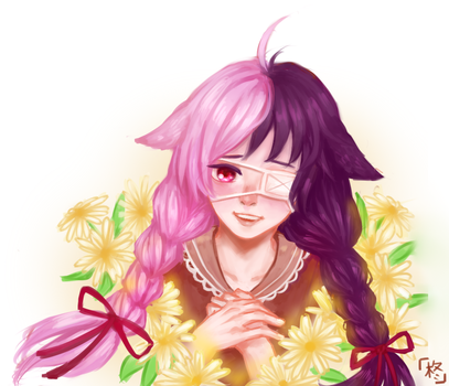 [request] Girl with Flowers 2 by HiiragiAzayaka