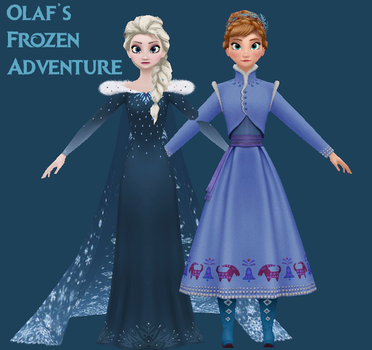 Olaf's Frozen Adventure Models by King-Of-Snow