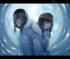 korra _Desna and Eska by kelly1412
