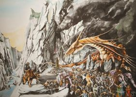 Glaurung and Turin by Atriedes
