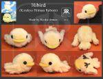 Hibird plushie by Ryoko-demon