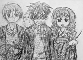 Hp Trio Doodle by batteryfish
