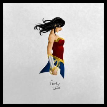 Wonder Woman in one layer by amateurartworker