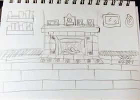 TFM fire place sketch by Bella-Who-1