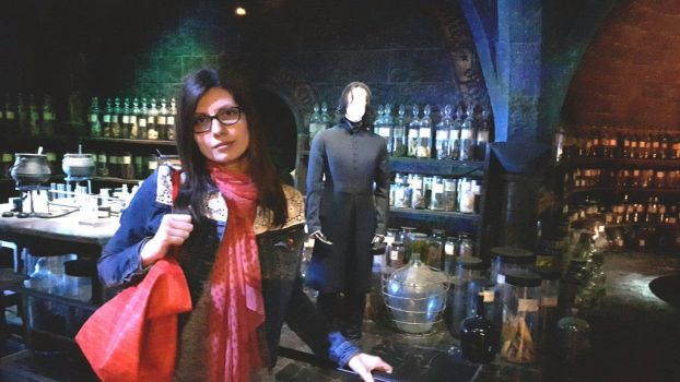 Harry Potter WB studios: me in Snape's classroom by MissJulyFarraday