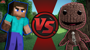 CFC|Steve vs. Sackboy by Vex2001