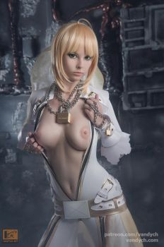 Saber bride cosplay #5 by Vandych100