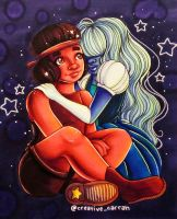 Ruby and Sapphire by CreativeCarrah