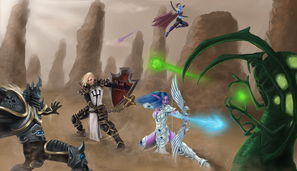 Battle of Heroes by Paine-Moon