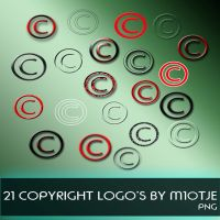 21 Copyright logo's by M10tje by M10tje