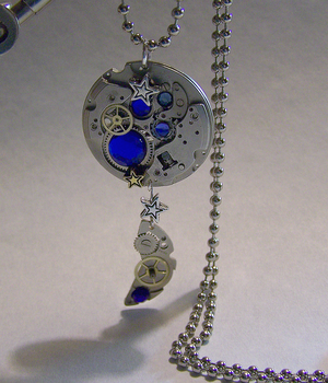 Sapphire Watch Moon Phase by mymysticgems