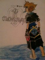 Sora Kh2 (First Attempt) (coloured) by CutieChloeGal