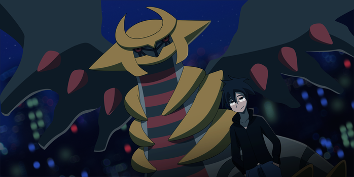 Commission: Giratina and Ridley by All0412