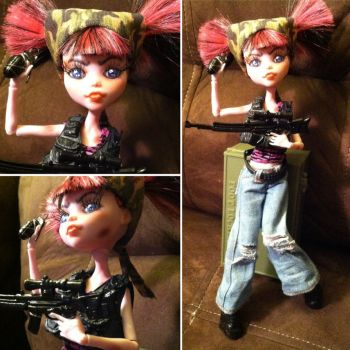 Zoey the Zombie Slayer: Monster High Custom by TerribleToadQueen