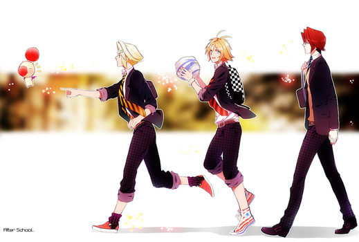 after school Squall Tidus and Vaan by ineedsomecake