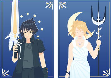 FFXV: Moon and Stars by Mephikal