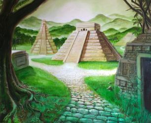 Aztec Pyramids by SoulRebel9