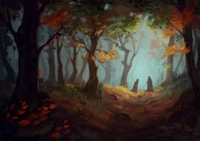 Landscape Forest by Sophingers
