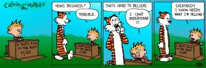 Calvin and Hobbes colored by J-Skipper