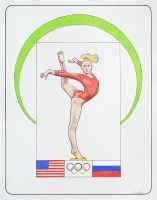 *Female Gymnast 3 - Nastia Liukin* by Denish-C