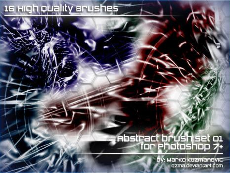 Abstract Brush Set 01 by Qzma
