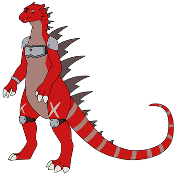 Zillamon OC Commision for Defendcastle8 by HewyToonmore