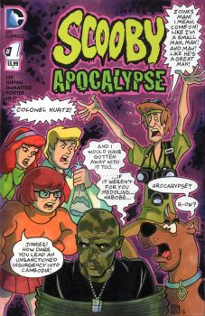 Scooby Doo Apocalypse Sketch Cover by timshinn73