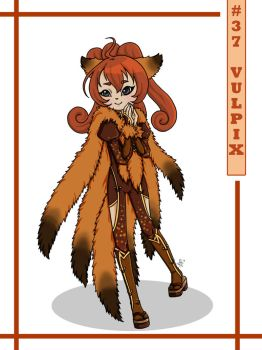 037 Vulpix by anime234dotcom