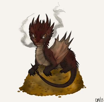 Smaug by MustacheSparklesOLE