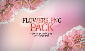 flowers png | pack by SparksOfLights