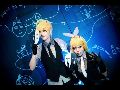Vocaloid Poker Face  Rin and Len ver by CE-Ciel