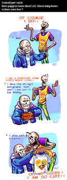 Undertale ask blog: movie star by neonUFO