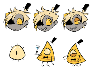 Bill Cipher Sticker by sinspicture