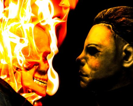 Ghost Rider vs Michael Myers by ricktimusprime0825
