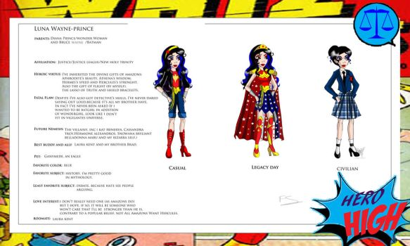 Hero High: Wonder Woman's daughter by Lady--knight