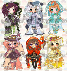 WITCHES IN STITCHES ADOPTABLE AUCTION by minnoux