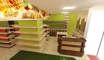 Interior of a cereal store by dleafy