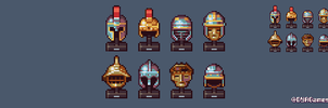 Battle Helmets by AlbertoV