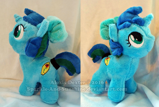 Custom Pony Plush - Ocean Rose by Sparkle-And-Sunshine