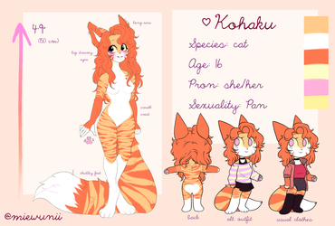 Kohaku's Reference Sheet 2018 ? by yumekkii
