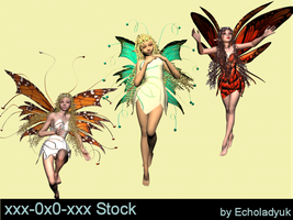 Fairies pack of 3 by xxx-0x0-xxx