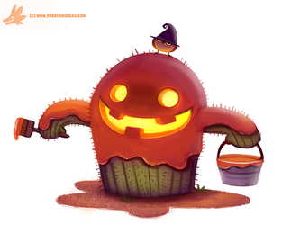 Daily Paint #1066. Cact-o'-lantern by Cryptid-Creations