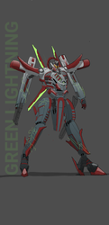 Mech phantom 2 Green lightning by Noobi88