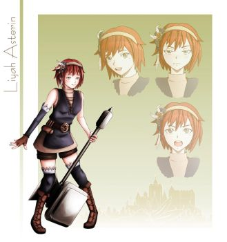 Character Design: Liyah Asterin by Temai