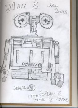 PIXAR'S Wall E Quick Sketch by JordanB1