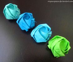 Origami Kawasaki Rose by OrigamiPieces