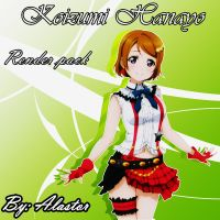 Hanayo Render Pack by AlastorD03